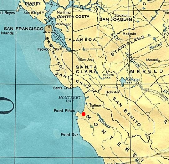 Regional Map of California on