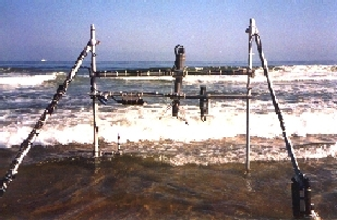 [Image of Monterey Bay Beach Experiment setup 1996]